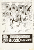 Original Comic Art:Splash Pages, Joe Kubert Our Army at War #193 Sgt. Rock Splash Page 1Original Art (DC, 1968)....