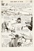 "Original Comic Art:Panel Pages, Joe Kubert Our Army at War #132 Sgt. Rock ""Young SoldiersNever Cry"" Chapter Two Title Page 7 Original Art (DC, 19..."