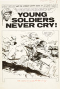 "Original Comic Art:Splash Pages, Joe Kubert Our Army at War #132 Sgt. Rock ""Young SoldiersNever Cry"" Splash Page 1 Original Art (DC, 1963)...."