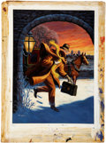 Original Comic Art:Covers, Geoffrey Biggs Classics Illustrated #153 the Invisible ManPainted Cover Original Art (Gilberton, 1959...