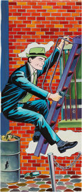 Original Comic Art:Covers, Dick Tracy on a Fire Escape Model Kit #818 Box CoverIllustration Original Art (Aurora, 1968).... (Total: 2 Items)