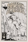 Original Comic Art:Covers, Ron Lim and Jim Lee Captain America #383 Cover Original Art(1991)....