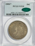 Bust Half Dollars: , 1808/7 50C VF35 PCGS. CAC. PCGS Population (9/89). NGC Census:(7/111). Numismedia Wsl. Price for NGC/PCGS coin in VF35: $...