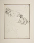 Original Comic Art:Illustrations, Al Buell Good Girl Pin-Up Pencil Illustration #8 Original Art (undated)....