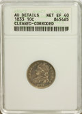 Bust Dimes: , 1833 10C --Cleaned, Corroded--ANACS. AU Details Net XF40. NGCCensus: (6/232). PCGS Population (19/216). Mintage: 485,000. N...
