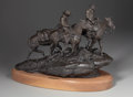 Sculpture, G. HARVEY (American, b. 1933). Blowin' In, 1976. Bronze. 17 x 22 x 12 inches (43.2 x 55.9 x 30.5 cm) (with base). Editio...