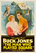 """Movie Posters:Adventure, The Man Who Played Square (Fox, 1924). One Sheet (27"""" X 41"""").. ..."""