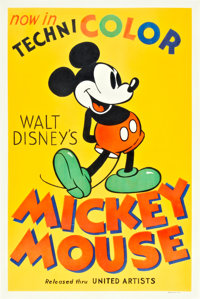 """Mickey Mouse Stock Poster (United Artists, 1935). One Sheet (27"""" X 41"""")"""