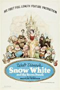 "Movie Posters:Animated, Snow White and the Seven Dwarfs (RKO, 1937). One Sheet (27"" X 41"")Style B.. ..."