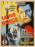 "Movie Posters:Film Noir, Scarlet Street (Universal, 1946). French Affiche (23.75"" X 31.5"")....."