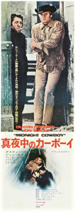 "Movie Posters:Drama, Midnight Cowboy (United Artists, 1969). Japanese STB (20"" X 58"")....."