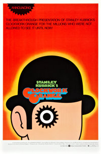 "A Clockwork Orange (Warner Brothers, 1971). One Sheet (27"" X 41"")"