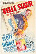 "Movie Posters:Western, Belle Starr (20th Century Fox, 1941). One Sheet (27"" X 41"") Style A.. ..."