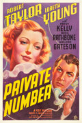 "Movie Posters:Drama, Private Number (20th Century Fox, 1936). One Sheet (27"" X 41"")....."