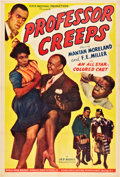 "Movie Posters:Black Films, Professor Creeps (Toddy Pictures, 1942). One Sheet (27"" X 41"")....."