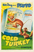 "Movie Posters:Animated, Cold Turkey (RKO, 1951). One Sheet (27"" X 41"").. ..."