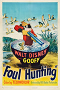 "Movie Posters:Animated, Foul Hunting (RKO, 1947). One Sheet (27"" X 41"").. ..."