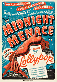 "Midnight Menace (All-American, 1946). One Sheet (28.5"" X 41"")"