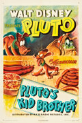 "Movie Posters:Animated, Pluto's Kid Brother (RKO, 1946). One Sheet (27"" X 41"").. ..."
