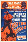 "Movie Posters:Black Films, Rhythm Rodeo (1938). One Sheet (28.25"" X 41.75"").. ..."