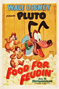 "Movie Posters:Animated, Food for Feudin' (RKO, 1950). One Sheet (27"" X 41"").. ..."