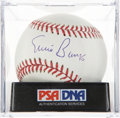 Autographs:Baseballs, Ernie Banks Single Signed Baseball PSA Gem Mint 10. ...