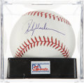 Autographs:Baseballs, Rickey Henderson Single Signed Baseball PSA Mint 9. ...