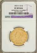 Liberty Eagles, 1853-O $10 --Improperly Cleaned--NGC. XF Details. NGC Census:(12/211). PCGS Population (33/116). Mintage: 51,000. Numismedi...