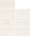 Autographs:Index Cards, Baseball Stars Signed Index Cards Lot of 7. ...