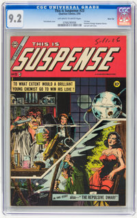 This Is Suspense #23 River City pedigree (Charlton, 1955) CGC NM- 9.2 Off-white to white pages