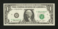 Error Notes:Shifted Third Printing, Fr. 1908-D $1 1974 Federal Reserve Note. Choice Crisp Uncirculated.. ...