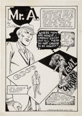 "Original Comic Art:Splash Pages, Steve Ditko Comic Crusader #4 Mr. A ""Debaters"" Splash PageOriginal Art (1968)...."
