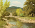 Texas, PALMER CHRISMAN (American, 20th Century). River Landscape.Oil on canvas. 16 x 20-1/4 inches (40.6 x 51.4 cm). Signed lo...