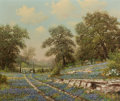 Paintings, WILLIAM ROBERT THRASHER (American, 1908-1997). Wheel Ruts in the Bluebonnets. Oil on canvas. 20 x 24 inches (50.8 x 61.0...