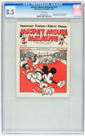 Platinum Age (1897-1937):Miscellaneous, Mickey Mouse Magazine Dairy Giveaway V1#12 (Walt DisneyProductions, 1934) CGC VF+ 8.5 White pages....