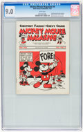 Platinum Age (1897-1937):Miscellaneous, Mickey Mouse Magazine Dairy Giveaway V1#9 (Walt Disney Productions,1934) CGC VF/NM 9.0 White pages....