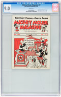 Platinum Age (1897-1937):Miscellaneous, Mickey Mouse Magazine Dairy Giveaway V1#7 (Walt Disney Productions,1934) CGC VF/NM 9.0 White pages....