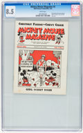 Platinum Age (1897-1937):Miscellaneous, Mickey Mouse Magazine Dairy Giveaway V1#5 (Walt Disney Productions,1934) CGC VF+ 8.5 White pages....