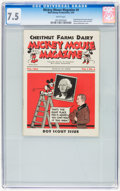 Platinum Age (1897-1937):Miscellaneous, Mickey Mouse Magazine Dairy Giveaway V1#4 (Walt Disney Productions,1934) CGC VF- 7.5 White pages....