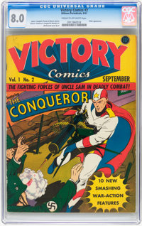 Victory Comics #2 (Hillman Publications, 1941) CGC VF 8.0 Cream to off-white pages
