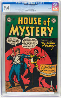 House of Mystery #3 River City pedigree (DC, 1952) CGC NM 9.4 Off-white to white pages