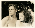 "Movie Posters:Adventure, Johnny Weissmuller and Maureen O'Sullivan in ""Tarzan and His Mate""(MGM, 1934). Still (8"" X 10"").. ..."