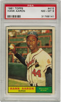Baseball Cards:Singles (1960-1969), 1961 Topps Hank Aaron #170 PSA NM-MT 8. High-grade card from thereigning Home Run King. Excellent registration on this gl...