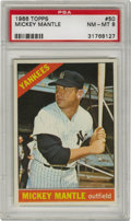 Baseball Cards:Singles (1960-1969), 1966 Topps Mickey Mantle #50 PSA NM-MT 8. Great centering with solid edges and corners make this Mantle a true high-grade m...