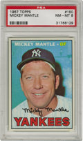 Baseball Cards:Singles (1960-1969), 1967 Topps Mickey Mantle #150 PSA NM-MT 8. Tremendous late-careercard from the esteemed Yankees slugger. Fantastic gloss, ...
