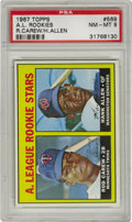 Baseball Cards:Singles (1960-1969), 1967 Topps A.L. Rookies R. Carew/H. Allen #569 PSA NM-MT 8. The Hall of Famer and 3,000 Hit Club member was just a bright-e...