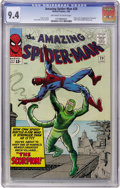 Silver Age (1956-1969):Superhero, The Amazing Spider-Man #20 (Marvel, 1965) CGC NM 9.4 Off-white towhite pages....