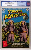 Golden Age (1938-1955):Science Fiction, Strange Adventures #1 (DC, 1950) CGC VF+ 8.5 Off-white pages....