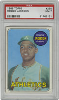 Baseball Cards:Singles (1960-1969), 1969 Topps Reggie Jackson #260 PSA NM 7. Mr. October was just a kid when this high-quality cardboard was issued. Clean and ...