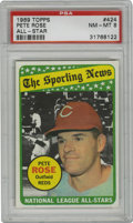 Baseball Cards:Singles (1960-1969), 1969 Topps Pete Rose All-Star #424 PSA NM-MT 8. Charlie Hustle was in the seventh season of his record-breaking career when...